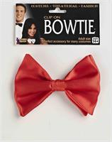 Red Clip On Bowtie Costume Accessory