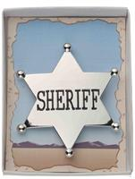 Silver Cowboy Sheriff Badge Costume Accessory