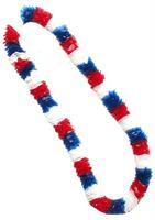 Patriotic Red, White, And Blue Plastic Costume Lei Set of 12