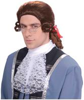 Men's Brown Colonial Adult Costume Wig