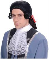 Men's Black Colonial Adult Costume Wig