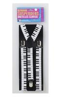 80's Style Keyboard Costume Suspenders Adult