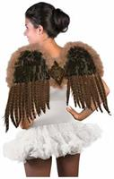 Exotic Feather Adult Costume Wings, Brown, One Size