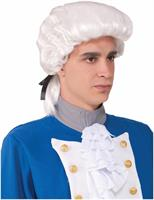 Colonial Male Deluxe Adult White Costume Wig