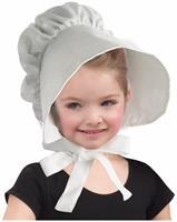 Large Red Floppy Brimmed Colonial Bonnet Adult Hat