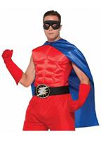 Superhero Blue Costume Cape Adult