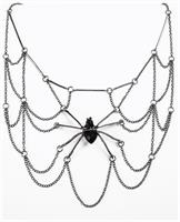Witches And Wizards Spider Web Costume Necklace Adult