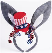 Democratic Donkey Ears Patriotic Costume Headband