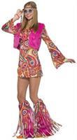 Faux Fur-Ever Groovy Hippie Costume Adult Women