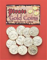Pirate Booty 12-Piece Gold Coin Costume Accessory