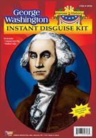 George Washington Wig and Jabot Disguise Adult Costume Kit