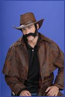 Civil War General Brown Moustache and Beard Costume Set