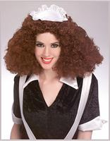 Rocky Horror Brown Magenta Adult Costume Wig
