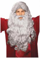 Grey Moses Wig and Beard Adult Costume Set