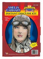 Amelia Earhart Helmet Goggles Scarf Disguise Adult Costume Kit
