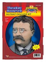 Theodore Roosevelt Wig Moustache Glasses Disguise Adult Costume Kit