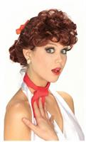 50's Housewife Auburn Red Adult Costume Wig