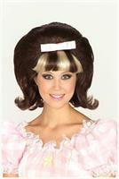 60's Princess Brown and Blonde Adult Costume Wig