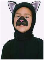 Black Cat Kitten Hood and Nose Animal Costume Set Child Standard