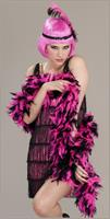Pink and Black Flapper Roaring 20's Adult Costume Boa