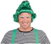 Green Christmas Oompa Elf Costume Wig Adult