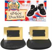 Colonial Style Costume Shoe Buckles Adult: Gold