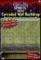 20' x 4' Corroded Wall Backdrop Halloween Party Decoration