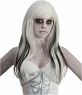 Phantom Ghost Black and White Costume Wig Adult