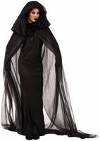 Haunted Black Adult Costume Cape