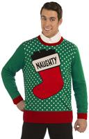 Naughty Stocking Ugly Christmas Sweater Adult