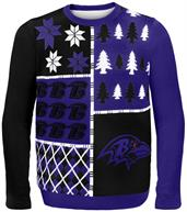 Baltimore Ravens Busy Block NFL Ugly Sweater