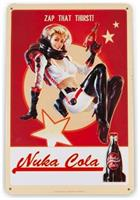 "Fallout 76 Nuka Cola Girl Metal Sign | Fanwraps Official Lithograph | 6"" x 9"""