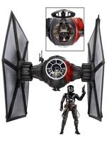 "Star Wars 6"" Black Series Deluxe First Order TIE Fighter Vehicle with Pilot"