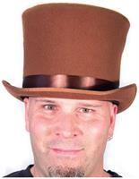 Bell Topper Costume Hat Adult: Brown
