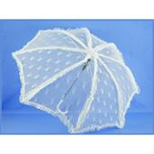 "Steampunk Deluxe Lace Costume Umbrella Parasol 37"" - White"