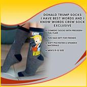 Donald Trump Socks | I Have Best Words And I Know Words Crew Sock Exclusive