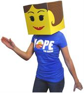 Female Yellow Brickman Costume Box Head