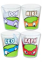 Teenage Mutant Ninja Turtles Faces Shot Glass Set of 4