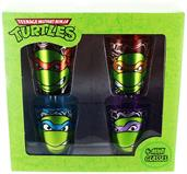 Teenage Mutant Ninja Turtles Heads Foil Shot Glass 4-Pack
