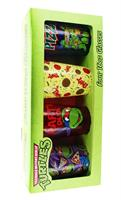 Teenage Mutant Ninja Turtles Pizza Party 16oz Pint Glass 4-Pack