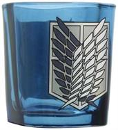 Attack on Titan Survey Corps Logo 1.5oz Blue Square Shot Glass