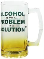 "Breaking Bad ""Alcohol Is Not A Problem, Its A Solution"" Glass Beer Mug"