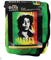 "Bob Marley 45x60"" Fleece Throw Blanket with Sherpa Lining"