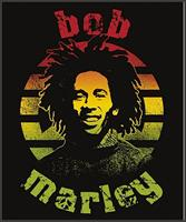 "Bob Marley Circle Micro Raschel 45""x60"" Fleece Throw Blanket"