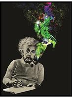 "Albert Einstein Smoke Galaxy 45""x60"" Throw Blanket"