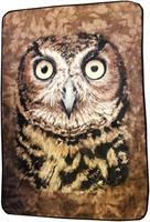 "Owl Face 45""x 60"" Fleece Throw Blanket"