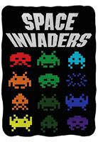 "Space Invaders Logo 45""x60"" Fleece Throw Blanket"