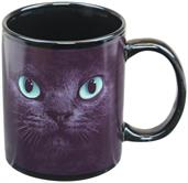 Black Cat With Green Eyes 11oz Coffee Mug