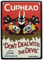 "Cuphead Don't Deal With The Devil Tin Sign 9"" x 6.5"""