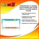 Dragon Ball Z License Plate Frame | My Other Ride Is A Flying Nimbus Cloud